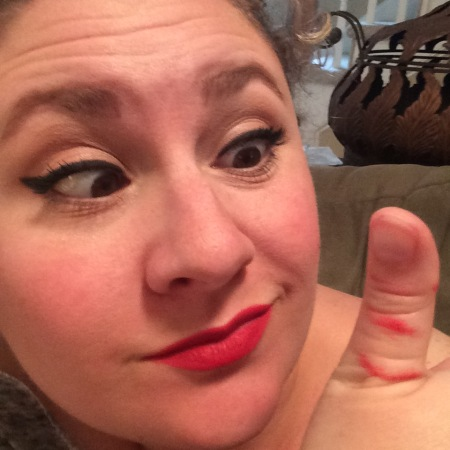 Lipstick-on-Teeth Crisis averted!